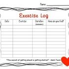This exercise log is a great way to encourage students to be physically active.  There is space to log 10 activities.  When students turn in a comp...