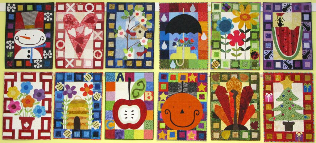 Calendar Quilts Pattern By Kim Schaefer Quilts Applique