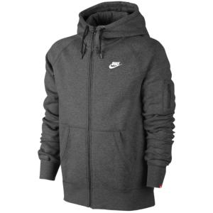 Nike AW77 Full Zip Hoodie Men's Charcoal HeatherWhite