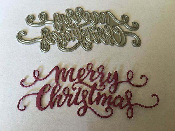 Gina Marie designs metal cutting dies Happy Holidays cursive words