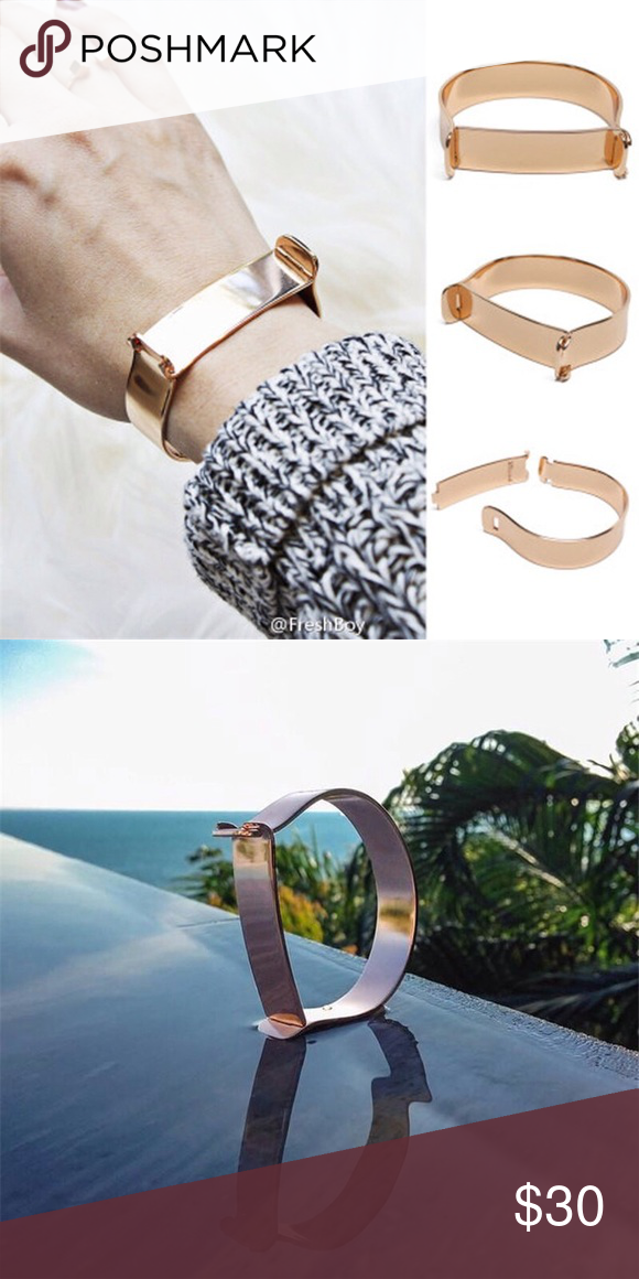 New!! Rose gold Ladies bracelets wide 16.5 cm  Ladies bracelets wide bracelet Women's Bangles Cuff Titanium steel Bracelet Fashion Jewelry Bracelets