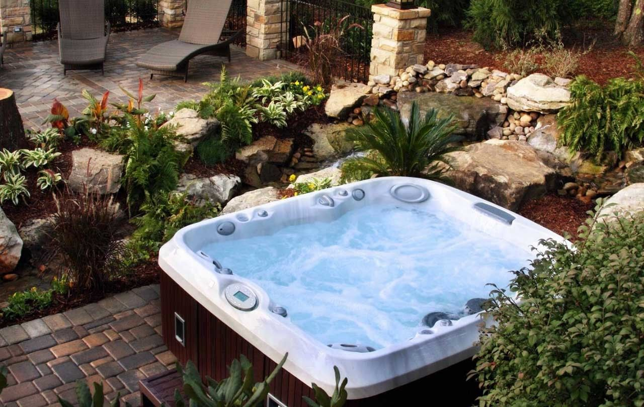26 Hottest Fresh Hot Tubs Home Ideas That Everyone Will Adore Stunning Photos Decoratorist Hot Tub Garden Hot Tub Backyard Outdoor Spas Hot Tubs Backyard landscaping ideas with jacuzzi