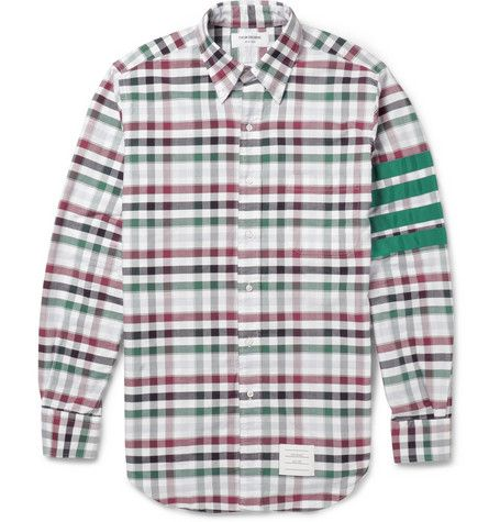 Cheap Best Wholesale Discount Footlocker Finishline Check Cotton Shirt Thom Browne Discount Amazing Price Cheap Countdown Package Cheap Best Prices Ea5HTu