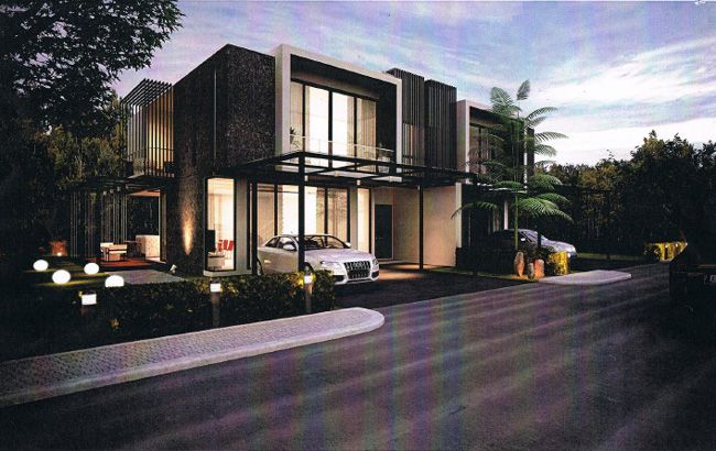 7th avenue double storey semi detached house kuching for for Casa moderno kl