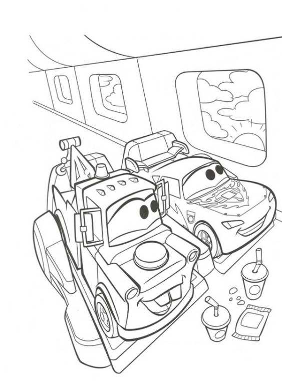 Kleurplaten Cars Kerst.Disney Cars Kleurplaten Slidehd Co