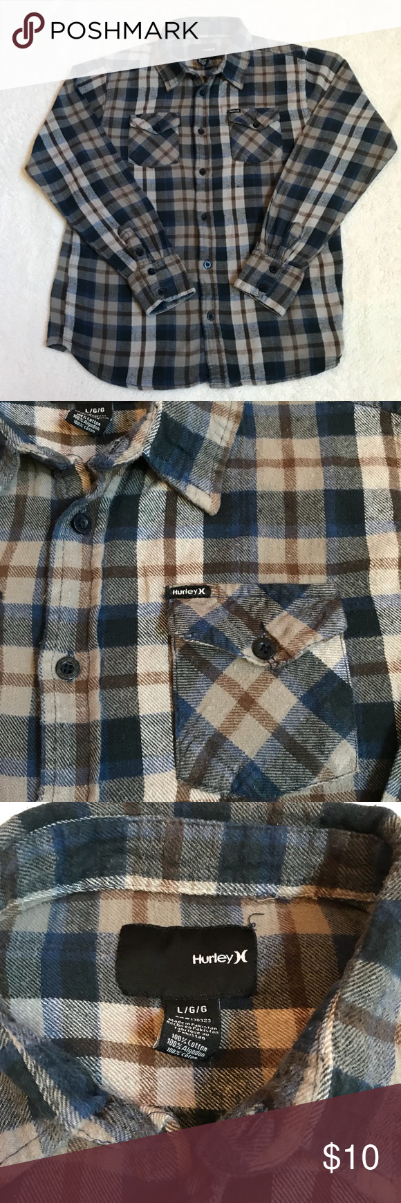 Boys Hurley flannel shirt  Hurley Flannel shirts and Flannels