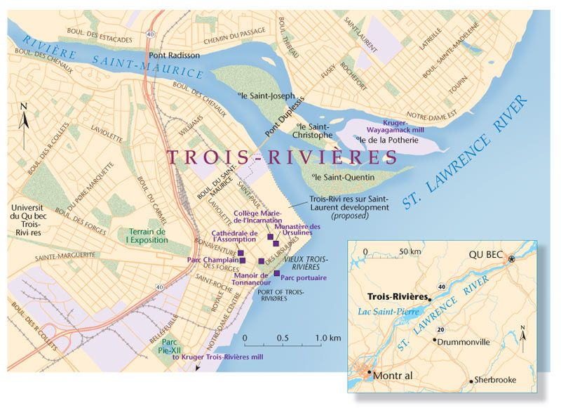 Trois Rivieres Map Trois Rivieres Quebec + history | Map: Explore the region | Direct