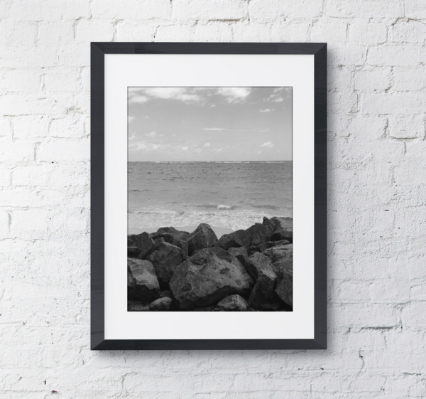 The View Oahu Hawaii Framed Photo Wall Art Photo Wall Art Framing Photography Black And White Photo Wall