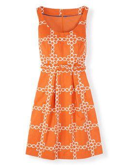 Manderin Daisy Chain Ava Dress Boden