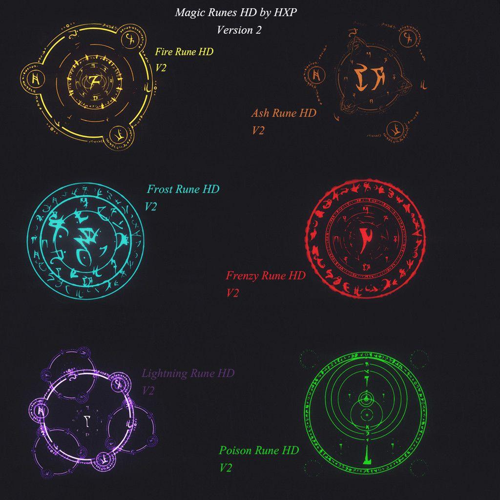 Magic Runes HD at Skyrim Nexus - mods and community | an ...