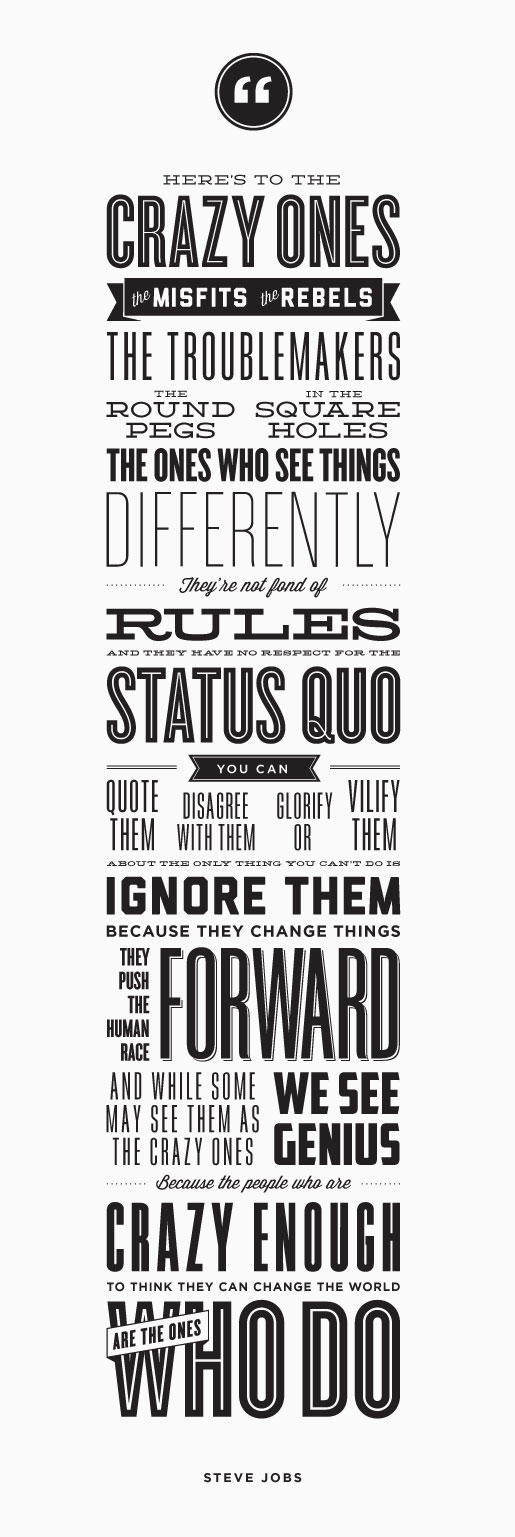 Great quote - Steve Jobs