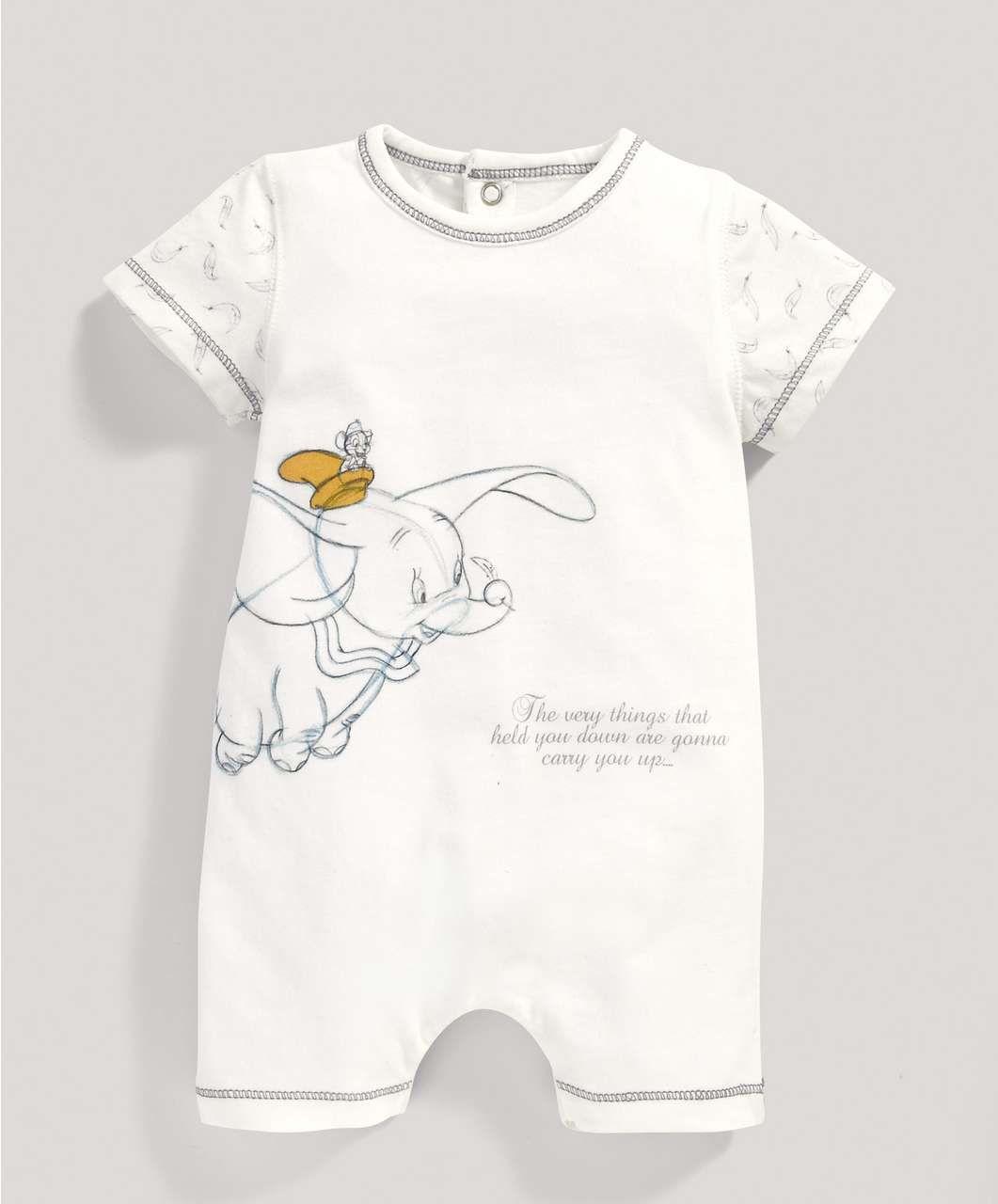 0fcf78afc Disney Dumbo Unisex Short Sleeved Romper - All Unisex - Mamas & Papas