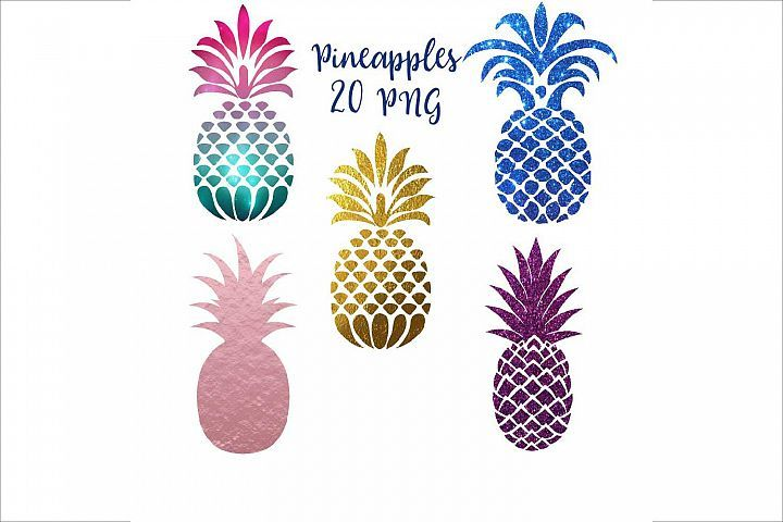 Pineapple Silhouettes Clipart | Clip art, Graphic ...