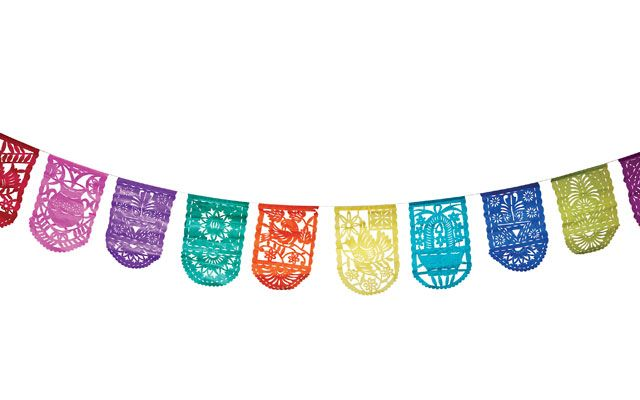 mexican paper banners Papel picado banners for the cinco de mayo party hop – day 2 now for the everything for the inspirational shoot, i made these pretty papel picado banners that are a fantastic backdrop for any fiesta the mexican folk art papel picado is traditionally made with large stacks of paper cut with a chisel.