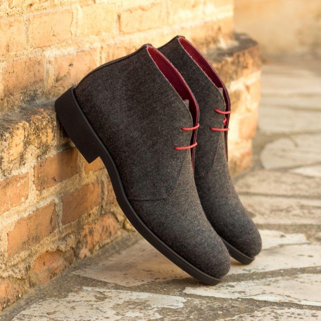 The Chukka Boot in Dark Grey Flannel