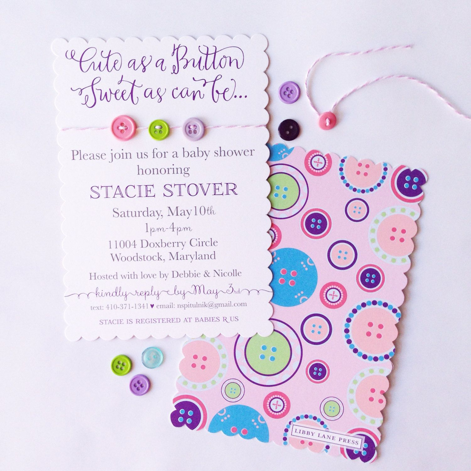 cute+as+a+button+baby+shower | Like this item? | Baby Shower Ideas ...
