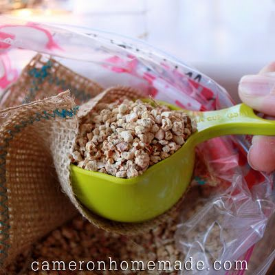 Homemade Sachet - use corn pet bed filling, scent with oil - nice alternative to lavender.