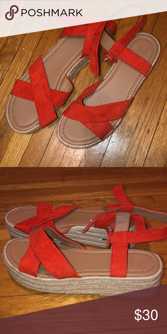 Orange platform sandals | Platform