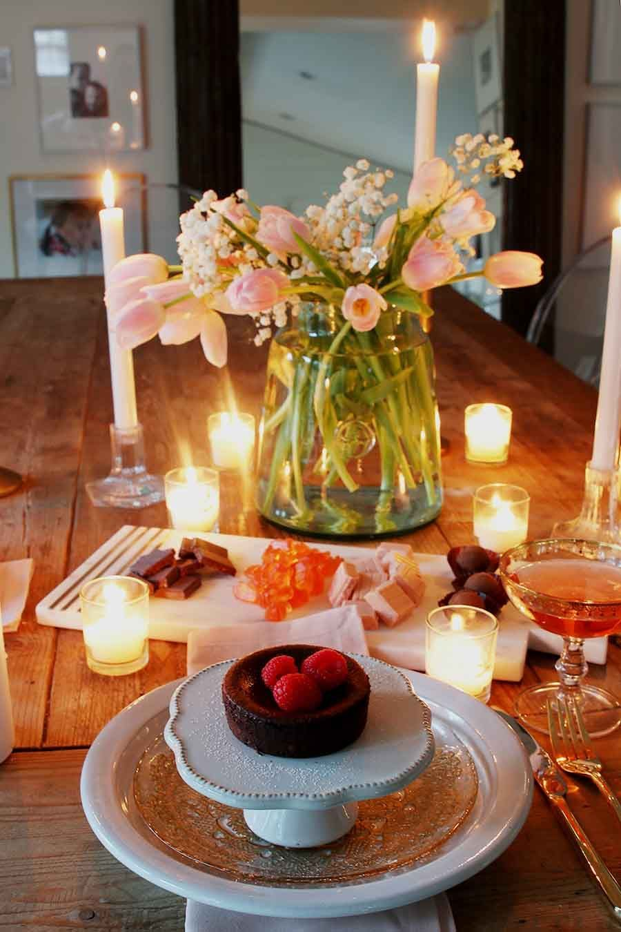 Valentines Table For Two Romantic Setting Hallstrom Home In 2020