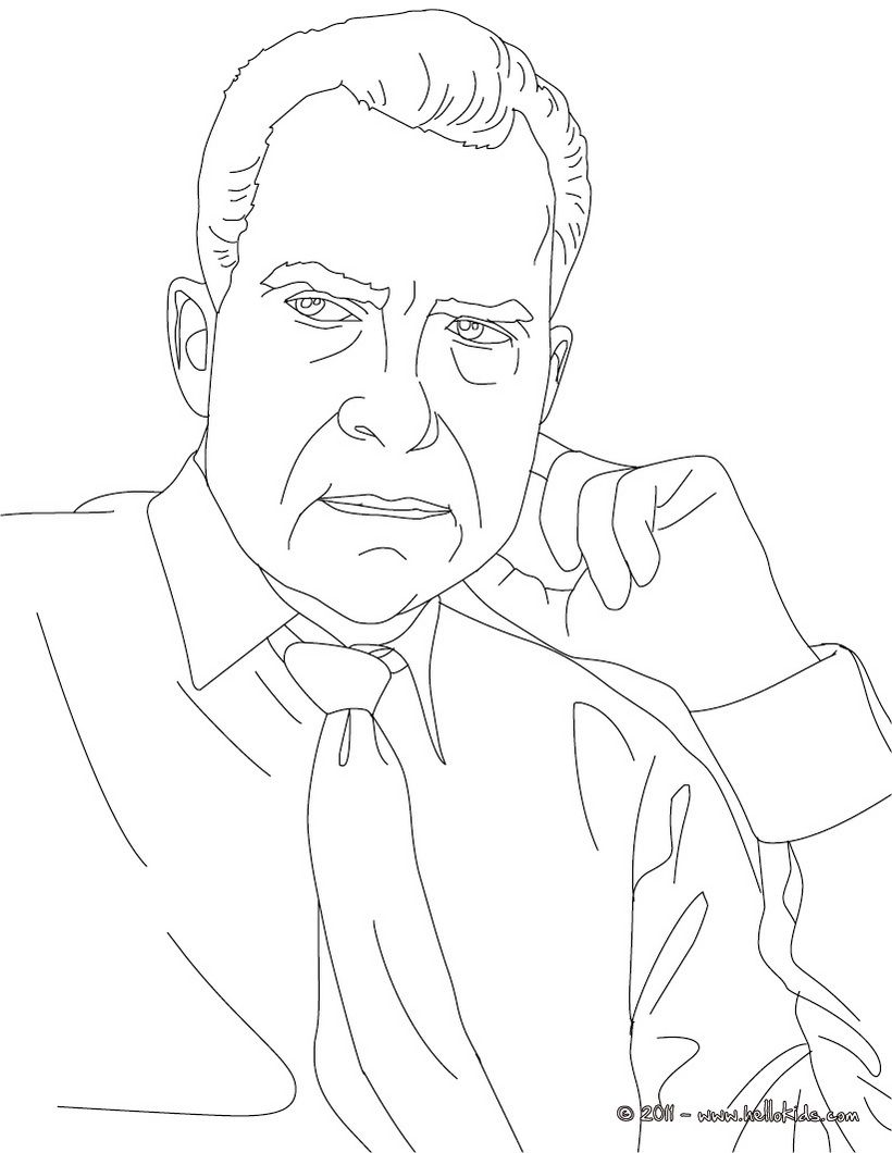 Coloring Pages Us Presidents Coloring Pages usa presidents coloring pages william jefferson clinton 1993 2001 president richard nixon page find out your favorite sheets in of the united states enjoy coloring