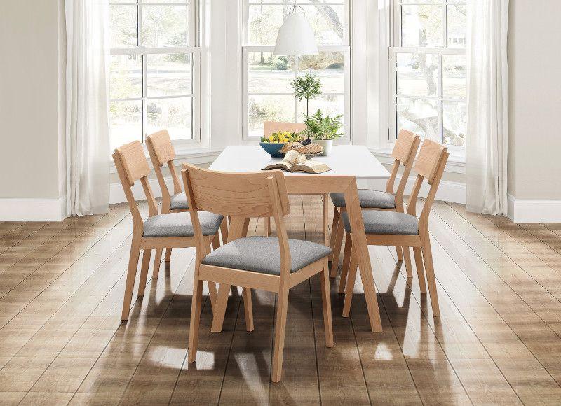 Home Elegance He 5575 7pc 76 7 Pc Misa Natural Finish Wood White