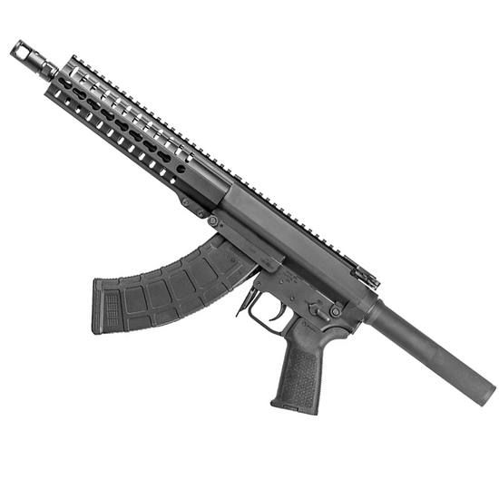 """The CMMG Mk47 is an AK-47 based pistol with a milled billet 7075-T6 aluminum receiver. It has a 10"""" barrel and an improved 9"""" hand guard that is designed to be compatible with most muzzle devices and suppressors."""