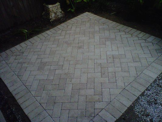 Herringbone Pattern For Patio Pavers I Like This Idea For Shower