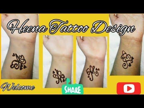 Very Easy & Beautiful A Letter Heena Tattoo Idea - YouTube