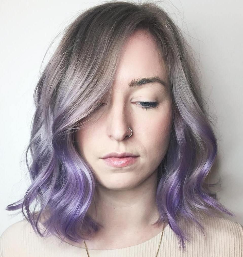 cool ideas of lavender ombre hair and purple ombre hair