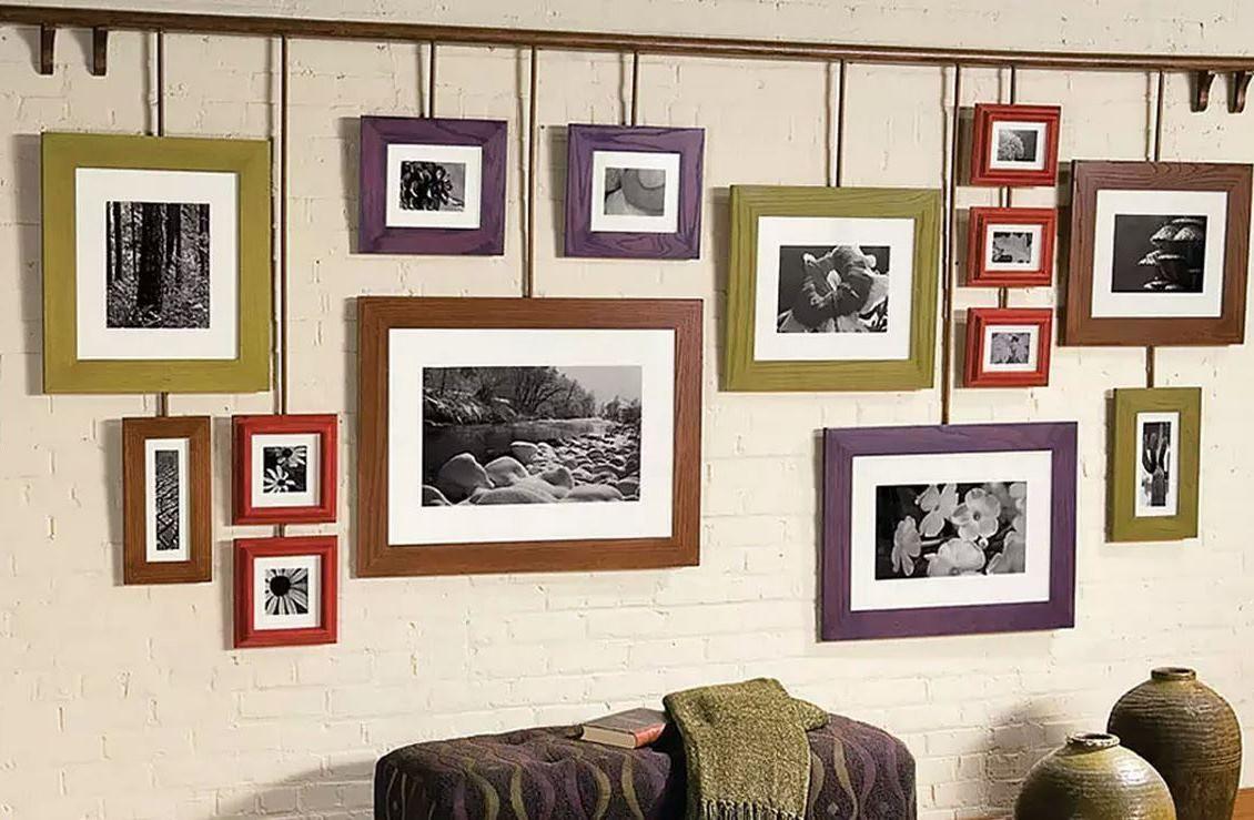 идеи как в доме развесить фотографии данной странице представлены