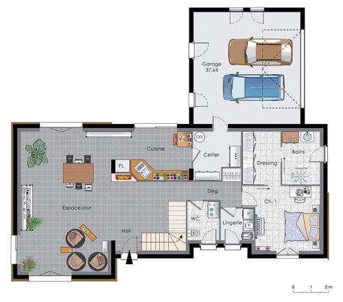 plan maison 200m2 Recycling mode couture bricolage Pinterest