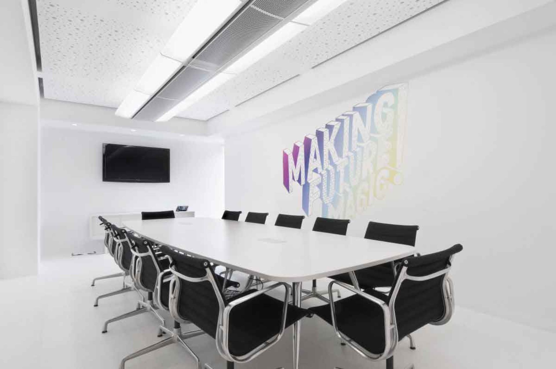 white and black office Google Search Office design Pinterest