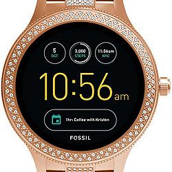 Womens Fossil Watch With Crystal Bezel Gen 3 Smartwatch Q Venture