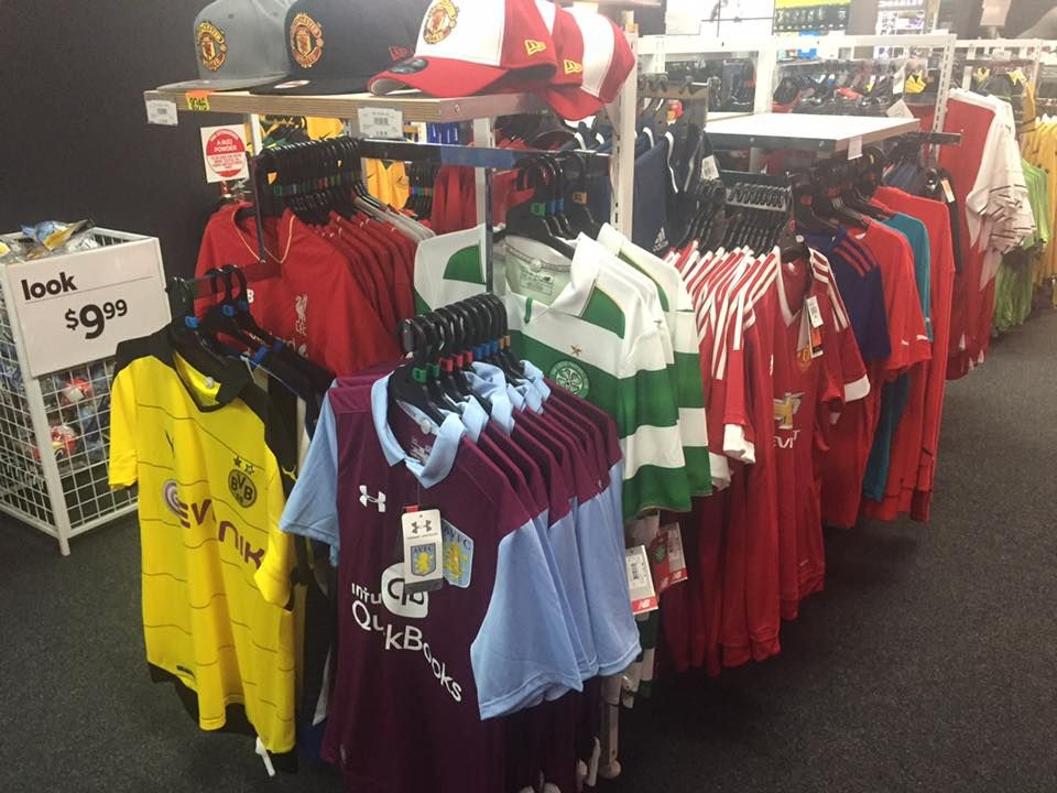 Meanwhile look what was found among the Glory-hunters section in an Australian Sports Store...