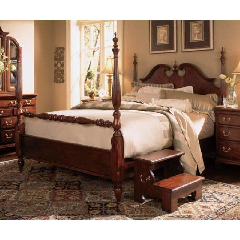 American Drew Cherry Grove 45th Anniversary Low Poster King Bed AD ...