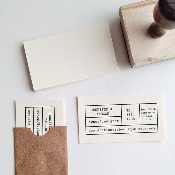 Make your own business card stamp via the stationery boutique confetti business card stamp by stationeryboutique on etsy reheart Choice Image
