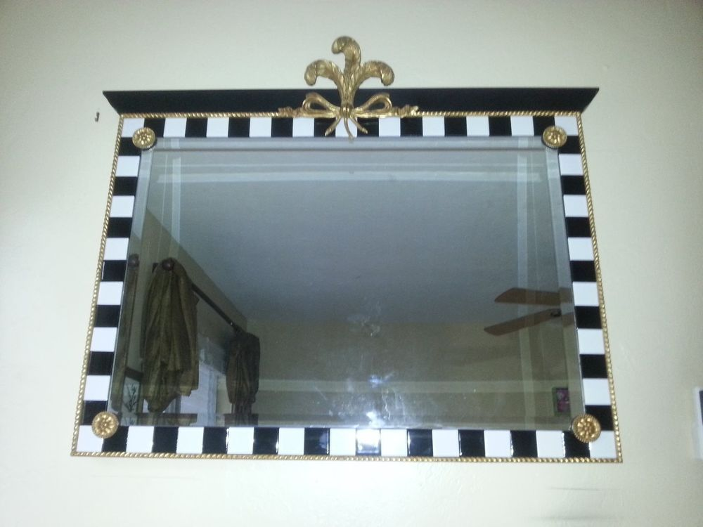 Carvers Guild Mirror Checkered Plume Wall Mirror Collectors dream #CARVERSGUILD #Traditional