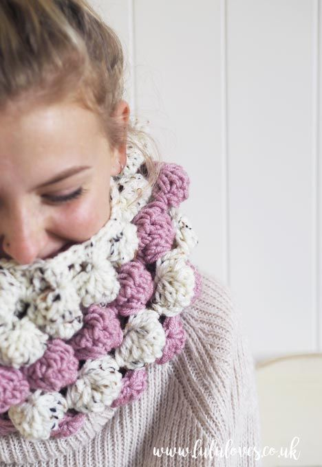 Lululoves: Free crochet pattern Giant Bobble Cowl | crochet ...