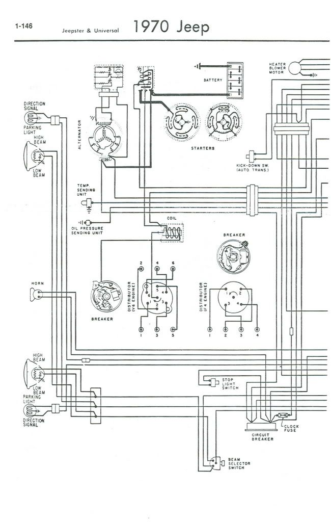 jeep cj5 wiring diagram for 1967 all wiring diagram Jeep MB Wiring
