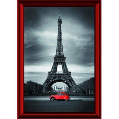 Tableau Tour Effeil 2 CV rouge, exclusivité de Imprim'Déco