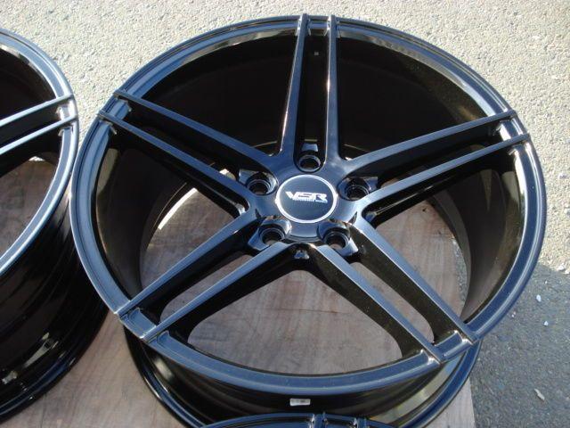18x8 18x9 VSR Stealth Staggered Wheels Gloss Black 5x120