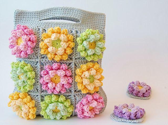Blooming garden crochet bag - Dadas place