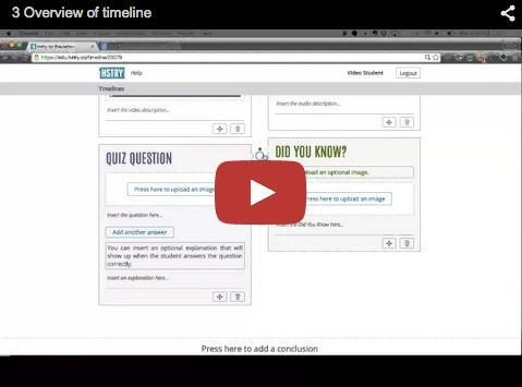 free technology for teachers how to create a multimedia timeline on