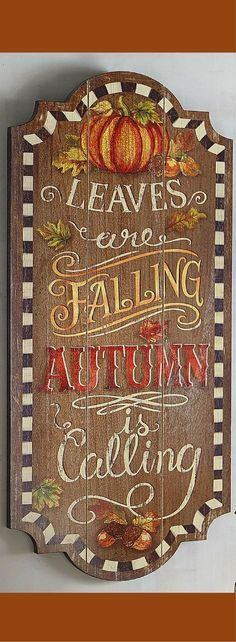 Fall decor, Leaves are falling, Autumn Is calling wall decor, Autumn wall art, Fall wall art, fall wooden signs, fall wall art, autumn wall art #ad #affiliatelink