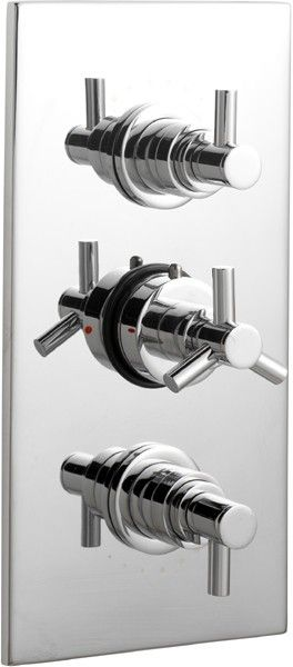 Ultra Horizon 3 4 Triple Concealed Thermostatic Shower Valve