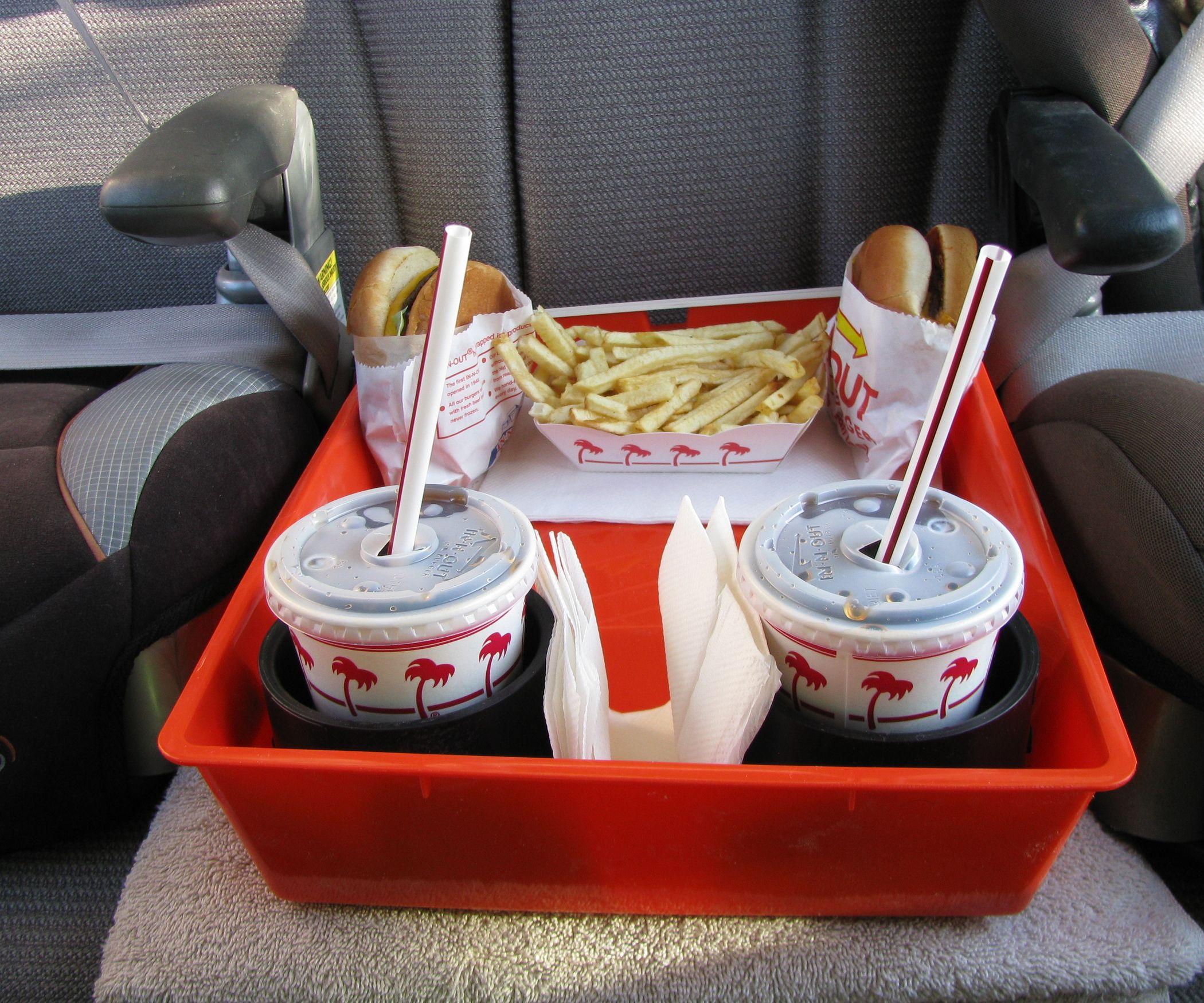 Backseat caddy painted trays diy diy car