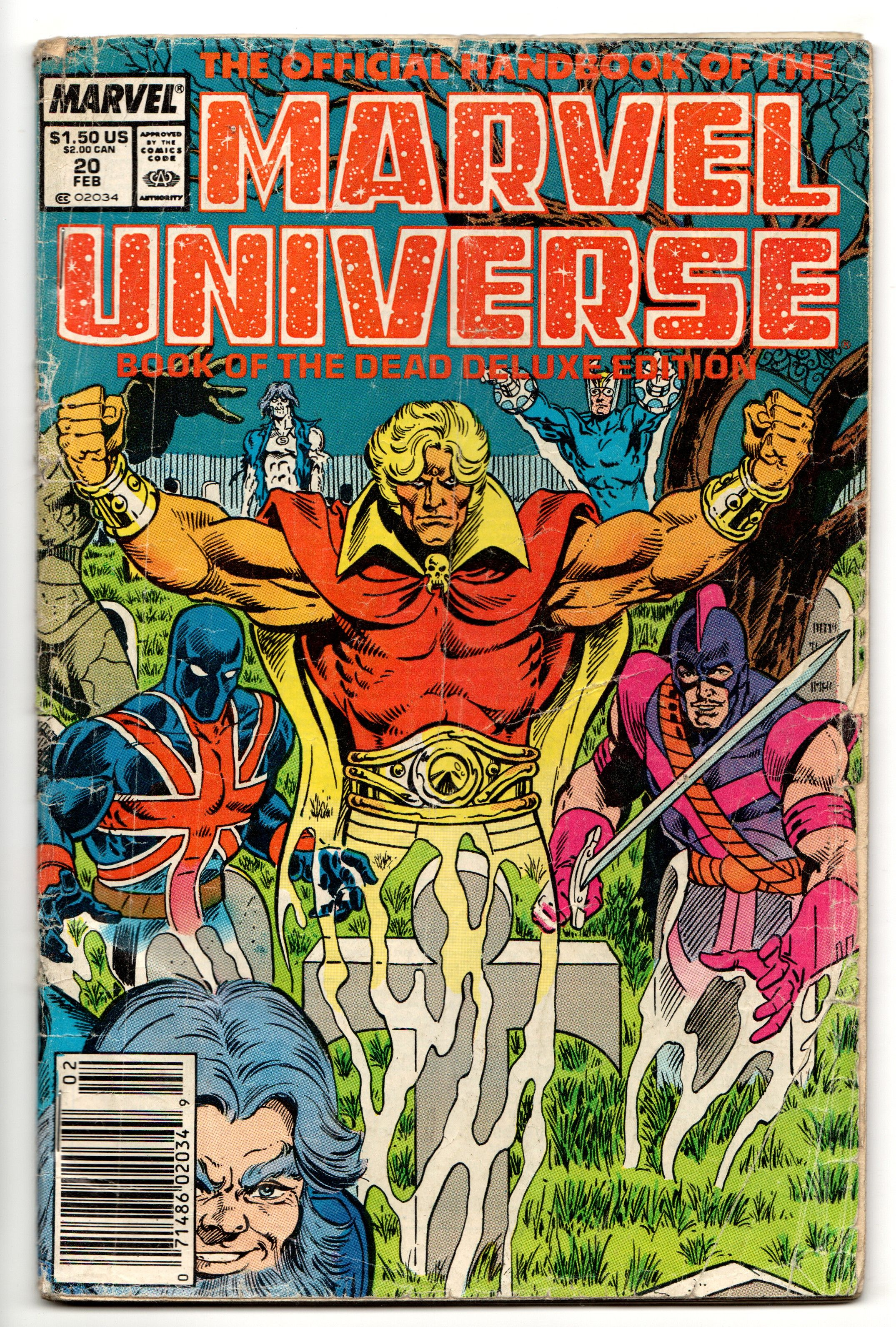 Official handbook of the marvel universe 20 deluxe