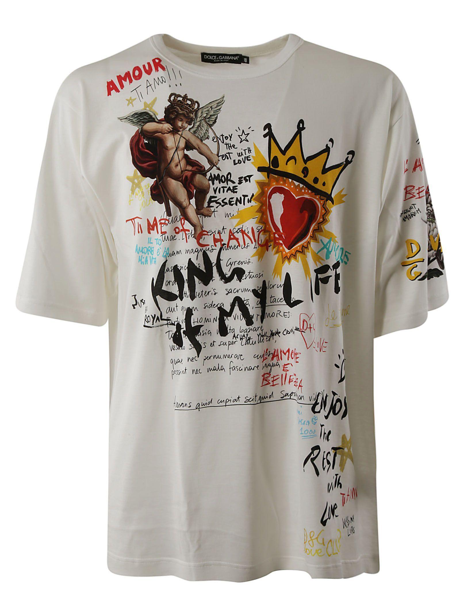 DOLCE   GABBANA KING PRINT T-SHIRT.  dolcegabbana  cloth  64d09107e26