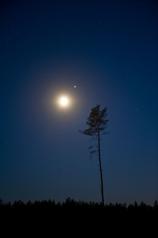 The Moon and Jupiter Moon/Jupiter conjunction Credit: Marek