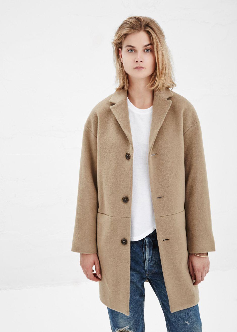 Covet. A.P.C. Tobacco & cashmere wool coat in a tan. Classic coat ...